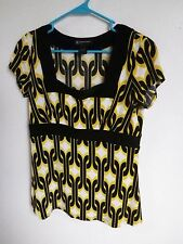 INC. CONCEPTS Womens SIZE PETITE M Blouse Top SILKY CAREER WEAR EMPIRE STYLE
