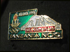 Atlanta 1996 Olympic Rare TANZANIA Mt Kilimanjaro NOC Internal Delegtn Team pin