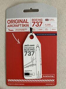 Aviationtag Jet2 Boeing 737 G-CELH White **RARE**