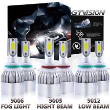 3 Pair LED Headlight Fog Light Bulb For 2013-2015 Ram 1500 2500 3500 w/Projector