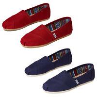 TOMS Womens Classic Alpargata Slip On Canvas Trainers Espadrille Pumps Shoes