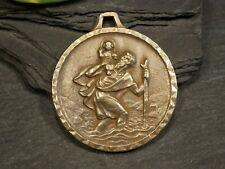 Große Pilger Medaille Anhänger Christopherus Maria Tracht Charivari Wohl Bronze