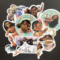 11Pcs Moana Stickers Pack Maui Waialik Heihei Vinyl Bomb Decals For Travel Case