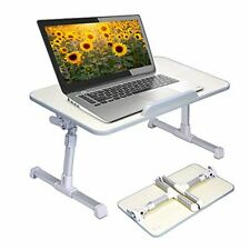 Neetto Height Adjustable Laptop Bed Table, Portable Lap Desk with Foldable Legs,