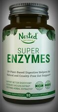 11 Potent Active Digestive Enzymes & Herbal Extracts Plant Based Vegan 90Day Sup