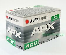 5 rolls AGFA APX 400 B&W Film 35mm 36exp 135-36