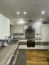 White Wren Kitchen units with some appliances.