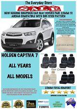 Holden Captiva 7 Genuine Sheepskin Car Seat Covers Pair 22MM TC Airbag Safe