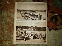 Army Engineers Pontoon Bridges American Army 1918 WW1  World War 1 Picture
