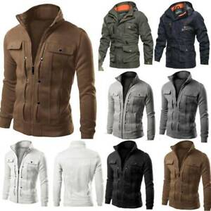 Mens Military Jacket Tactical Combat Coats Casual Breathable Outerwear Outwear