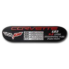 2008-2013 Corvette LS3 Engine Performance ID Plate