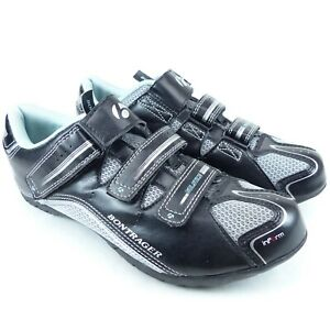 Womens Size 8.5 Bontrager Solstice Cycling Shoes W/ Shimano Cleats SM-SH51 Black