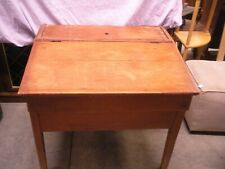 Primitive Plantation Slant Lift Top Desk Pine Mid 1800s Antique Dovetailed