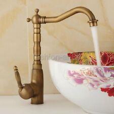 Vintage Antique Brass Swivel Kitchen Sink Bathroom Basin Mixer Tap Faucet fan003
