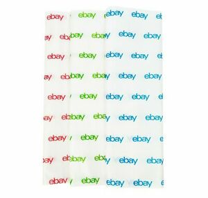 """eBay Branded Tissue Paper, 50 sheets, Blue/Green/Red, Free Shipping, 20"""" x 30"""""""