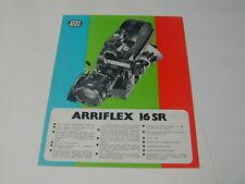 caméra ARRIFLEX 16 SR présentation publicitaire fiche technique cinéma ciné
