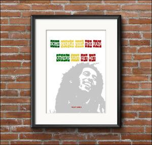 Home decor, quotation, BOB MARLEY, inspirational, art print poster, A4, A3