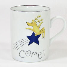 Pottery Barn REINDEER - COMET 12oz Mug Cup Porcelain Japan Christmas Mint