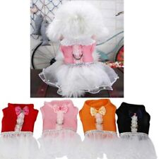 Pet Chest Harness Dress Tutu Lace Skirt Size S/ M/ L  Rabbit Cat Dog Clothing