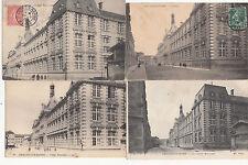 Lot 4 cartes postales anciennes CHÂLONS-SUR-MARNE collège municipal