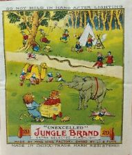 Vintage Unexcelled Jungle Brand Collectible Fireworks Label