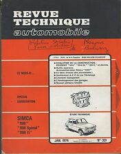 (35A) REVUE TECHNIQUE AUTOMOBILE SIMCA 1100 / PEUGEOT 504