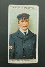 cigarette Tobacco card Wills Naval Dress & Badges 1909 #45 Sick Berth Attendant