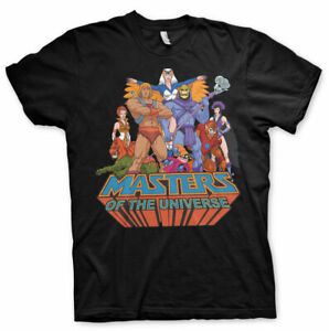 Masters of the Universe He-Man Skeletor Group MotU Männer Men T-Shirt Schwarz