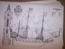 LA COURONNE    1636 sailing ship  ship plan