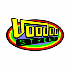 HOT ROD SURF STICKER by VOODOO STREET™ 11cm long oval, self adhesive, outdoor