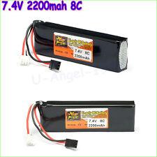ZOP Power Lipo Battery 7.4V 2200mAh 8C Li-Po Battery For DEVO 4/ 7E / 6S / 8S