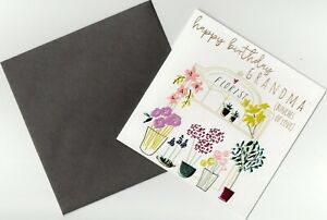 'HAPPY BIRTHDAY GRANDMA' BIRTHDAY GREETING CARD FOILED - QUALITY - FREE P&P