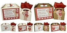 Personalised Valentines Day Gift Box Teddy Bear Design Small/Large Present Box