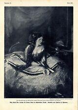 Miß Lillah Mac Carthy in altspanischer Tracht Gemälde von Charles H.Shannon 1908