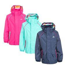 Trespass Lunaria Girls Waterproof Jacket Kids School Raincoat Pink Navy Mint