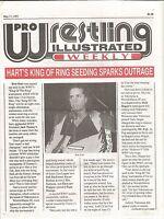 MAY 17 1993 PRO WRESTLING ILLUSTRATED WEEKLY MAGAZINE BRET HART HIT MAN WWF WCW