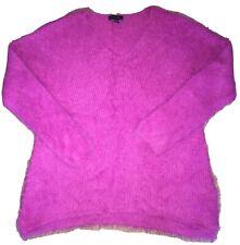 Atmosphere Fuchsia Pink Purple Fluffy Jumper Size L 14-16
