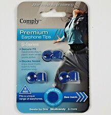 Genuine Comply Premium Earphone Tips Foam Earbud Tips 3-pair S-400 Blue
