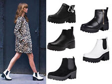 Zip Block Heel Synthetic Ankle Boots for Women
