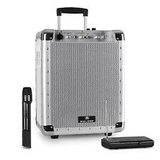 Haut Parleur Sono Dj Pa Disco Mobile 100w Rms Bluetooth + Micro Sans Fil Blanc