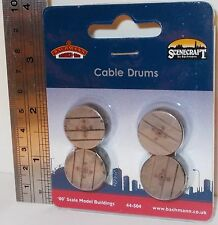 Bachmann 00 Scenecraft 44-504 - Cable Drums x 4 - New (00)