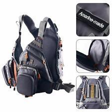 Fly Fishing Backpack Adjustable Size Mesh Fishing Vest Pack Amarine-made - Gray
