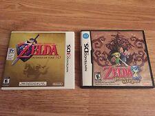 Nintendo 3ds Legend Of Zelda Orcina Of Time + Phantom Hourglass Ds Nice Dsi