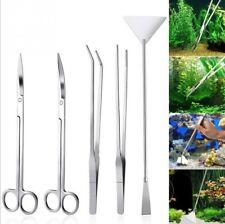 Fish Tank Cleaner Aquascape 5in1 Tools Aquatic Plant Aquascaping Tweezer Scissor