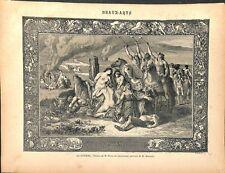 La guerre tableau Pierre Puvis de Chavannes peintre dessin Nargeot GRAVURE 1887