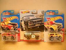 Hot Wheels Premium Car Culture Police 85 Ford Bronco Fire Chief Chevy Blazer Lot