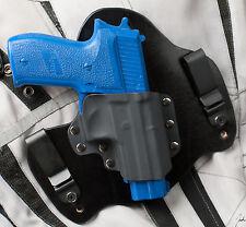 Sig Sauer P226 Rail 9 and 40 Black Leather Kydex Hybrid Gun Holster IWB Tuck