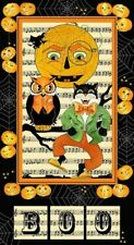 "Quilters Treasures Creepers Peepers Halloween Panel 23"" x 44"""