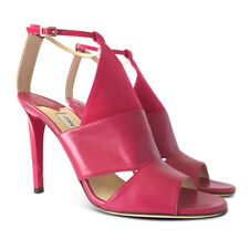 NEW JIMMY CHOO Timbus 100 Ankle Strap Open Toe Sandal - Pink - Size 40