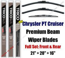 Wipers 3pk Premium Front Rear fit 2001-2010 Chrysler PT Cruiser 19210/200/30160